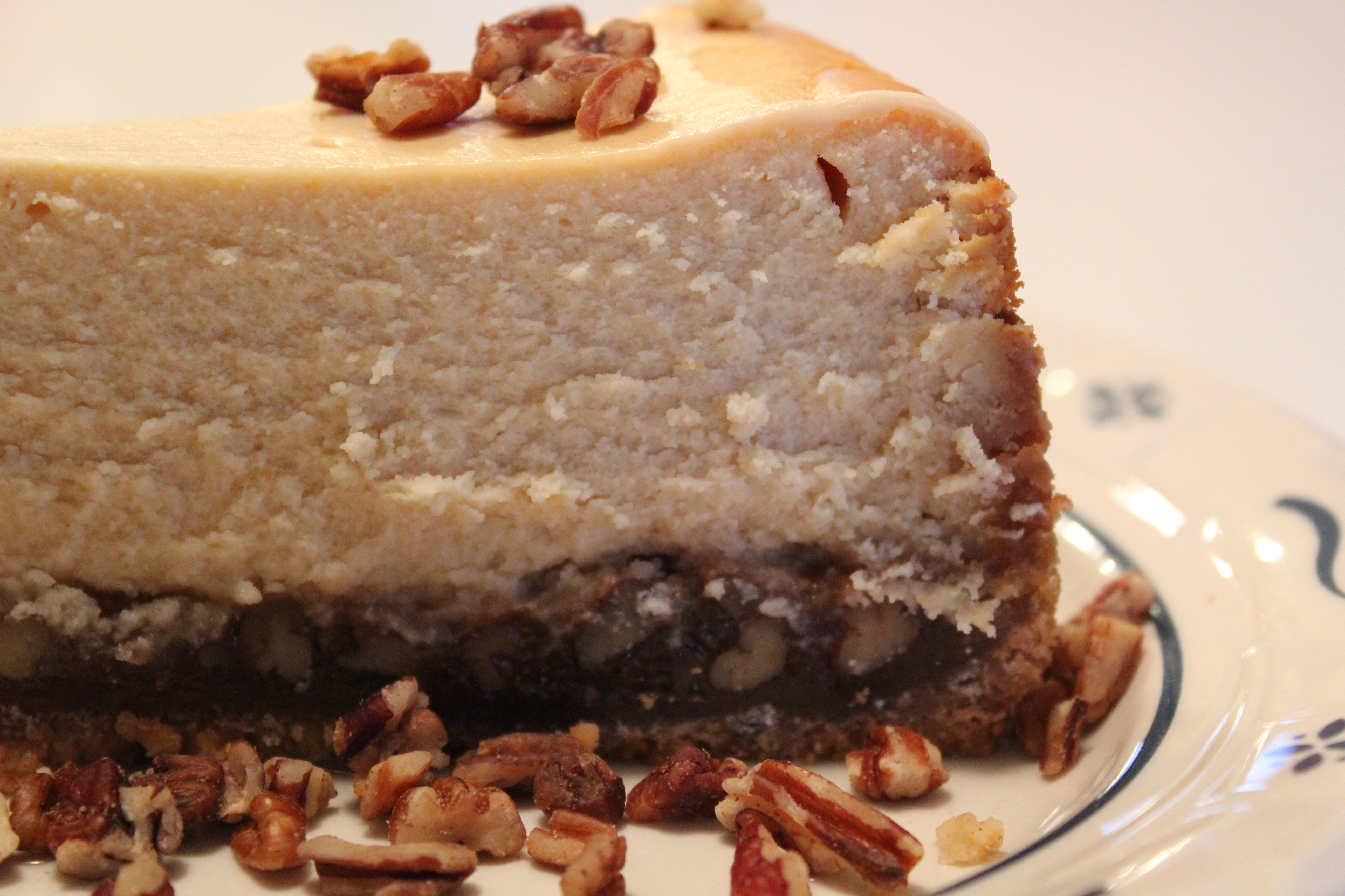 Pecan Pie Bottomed Cheesecake